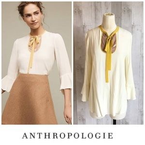 Maeve Anthropologie Medium Callum Tie Neck Blouse